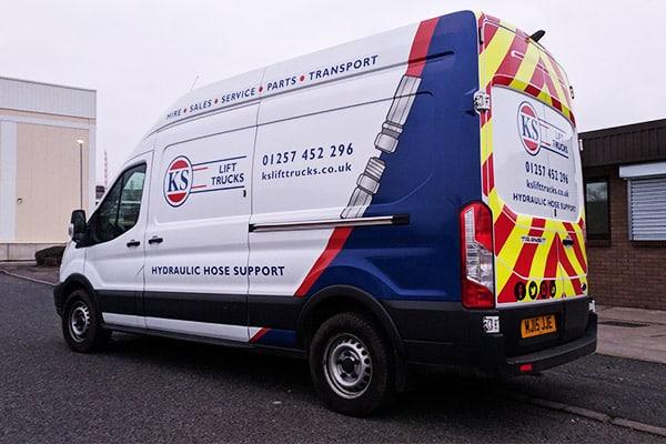KS Lift Trucks Hydraulic Hose Support Van