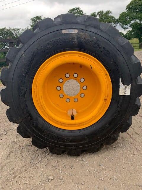 NEW JCB service exchange drive wheels and steer wheels. Foam filled.