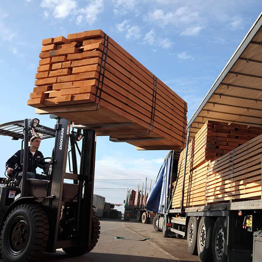 Doosan Diesel Forklift Truck Loading HGV - KS Lift Trucks