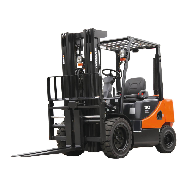 Isolated Doosan 9-Series Forklift Truck - KS LIft Trucks