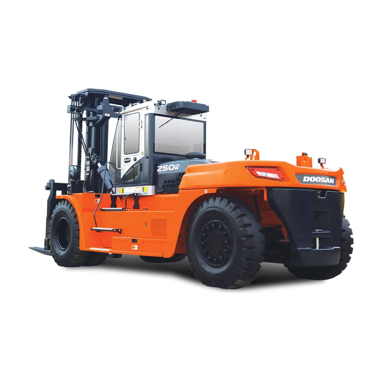 3/4 Angle Doosan 7-series 10-25 tonne Diesel Forklift
