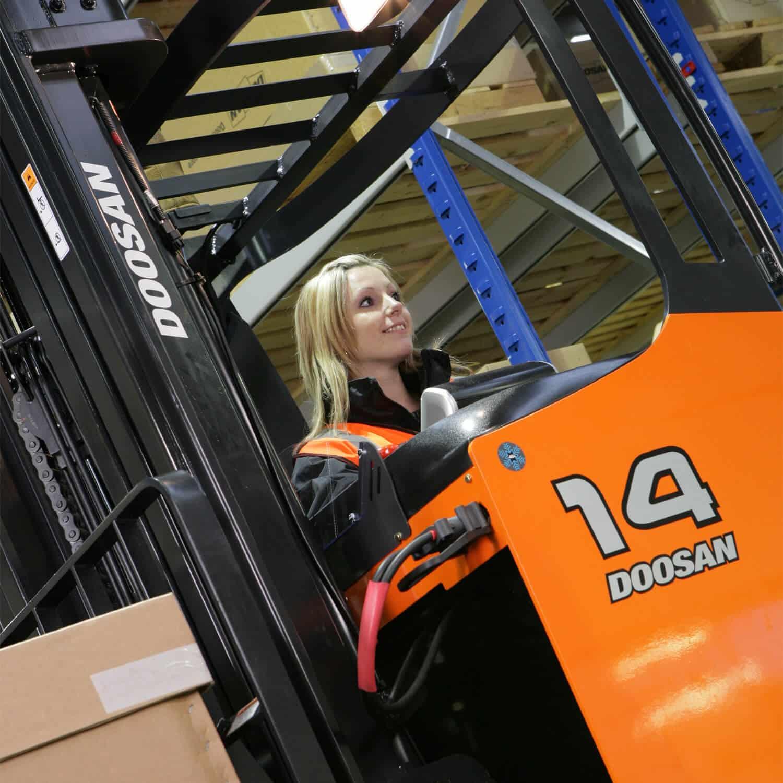 operating Doosan Reach Trucks