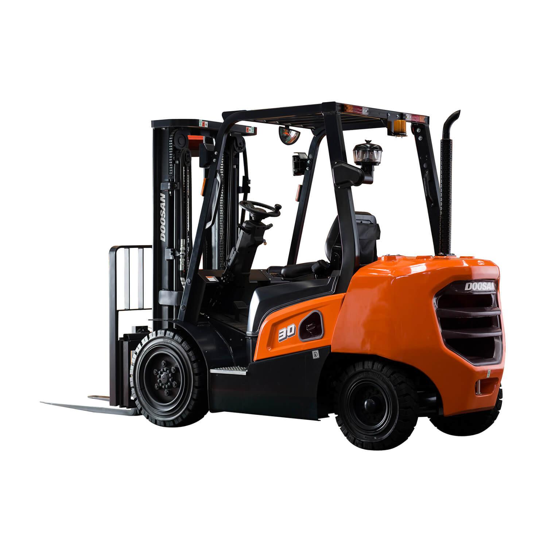 Rear 3/4 view Doosan NX Plus Series - KS Lift Trucks
