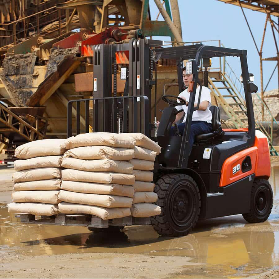 Doosan NX Plus Series Loading Bales - KS Lift Trucks