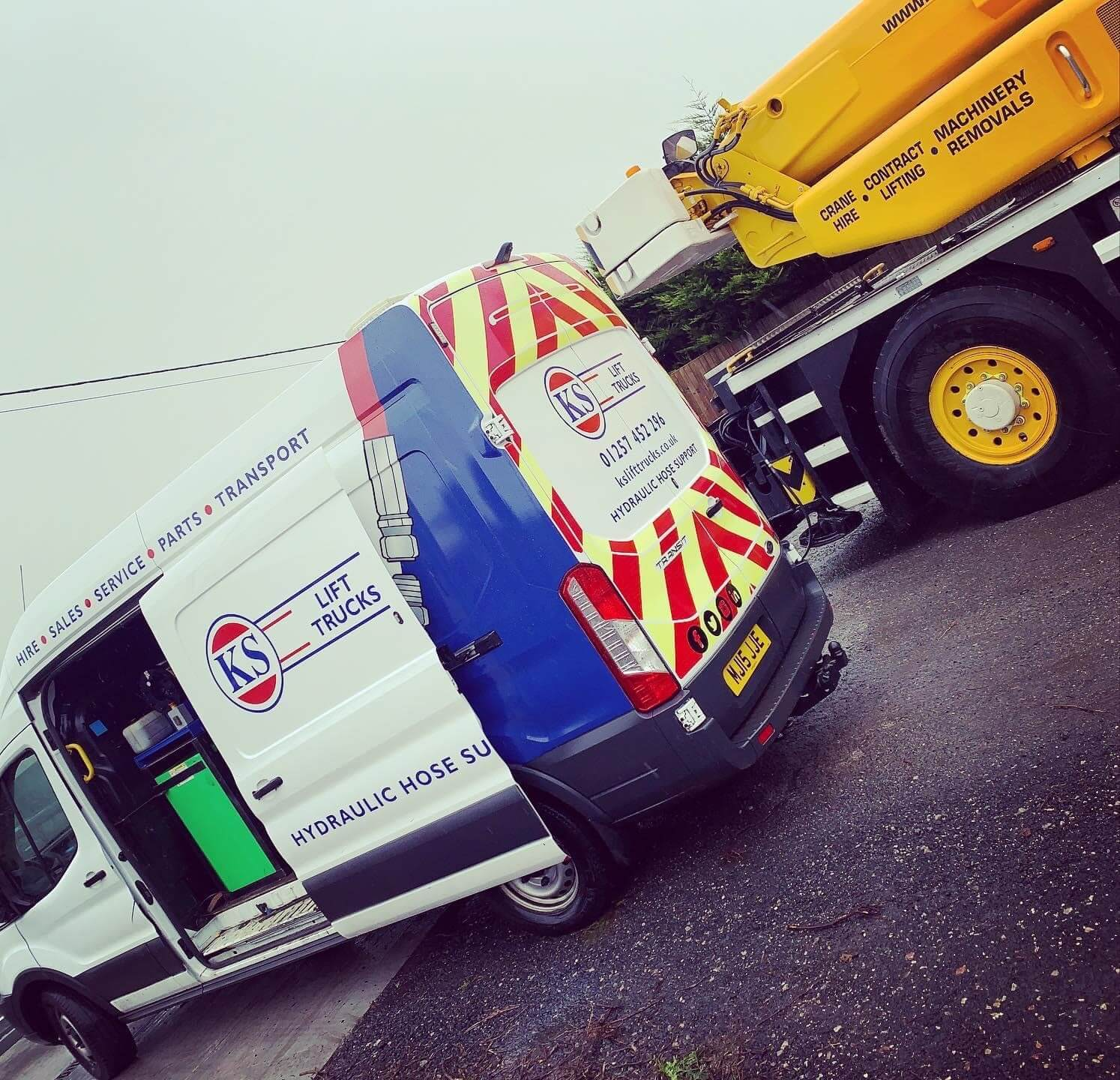 KS lift trucks delivery vehicles