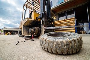 Forklift Truck Tyre Maintenance